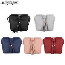 2018 High Quality PU Leather Bucket Tassels Women Crossbody Bags Fashion Sling Handbags Ladies Tote Bag For Women Shoulder Bag