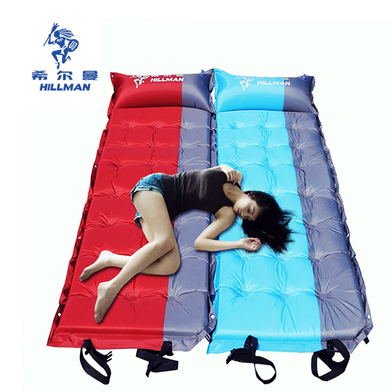 Hillman magic auto inflatable cushion, outdoor tent mat, dampproof mat, widened thickening mattress, camping air cushion