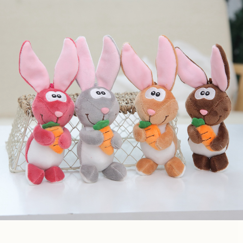 1pc 12cm Lovely Rabbit Plush Toys Soft Stuffed Animals Mini Bunny Bag Pendant Plush Dolls Key Chain for Children Girls Gifts(China)