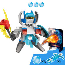 Cannonball Cop Blocks Series Flameball Fox Flash Shadow Building Sets Bricks Early Education Toys for Children Gift