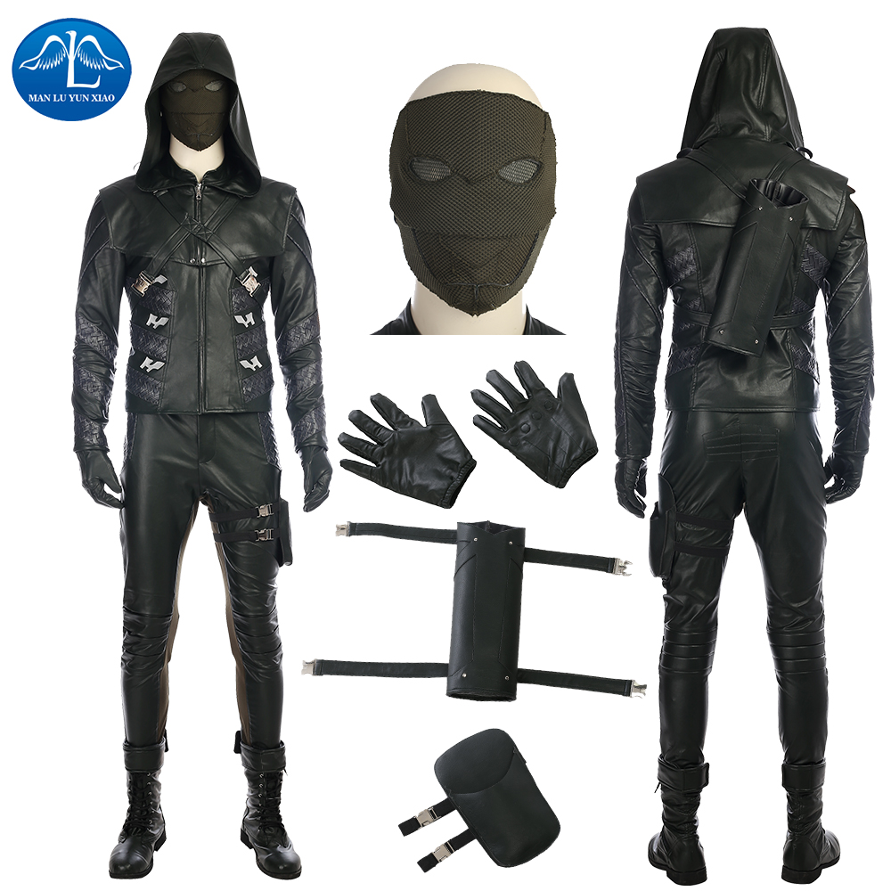 ManLuYunXiao Green Arrow Costume Quentin Lance Costume Halloween Cosplay Costume For Adult Men Full Set Men Basic Custom Made