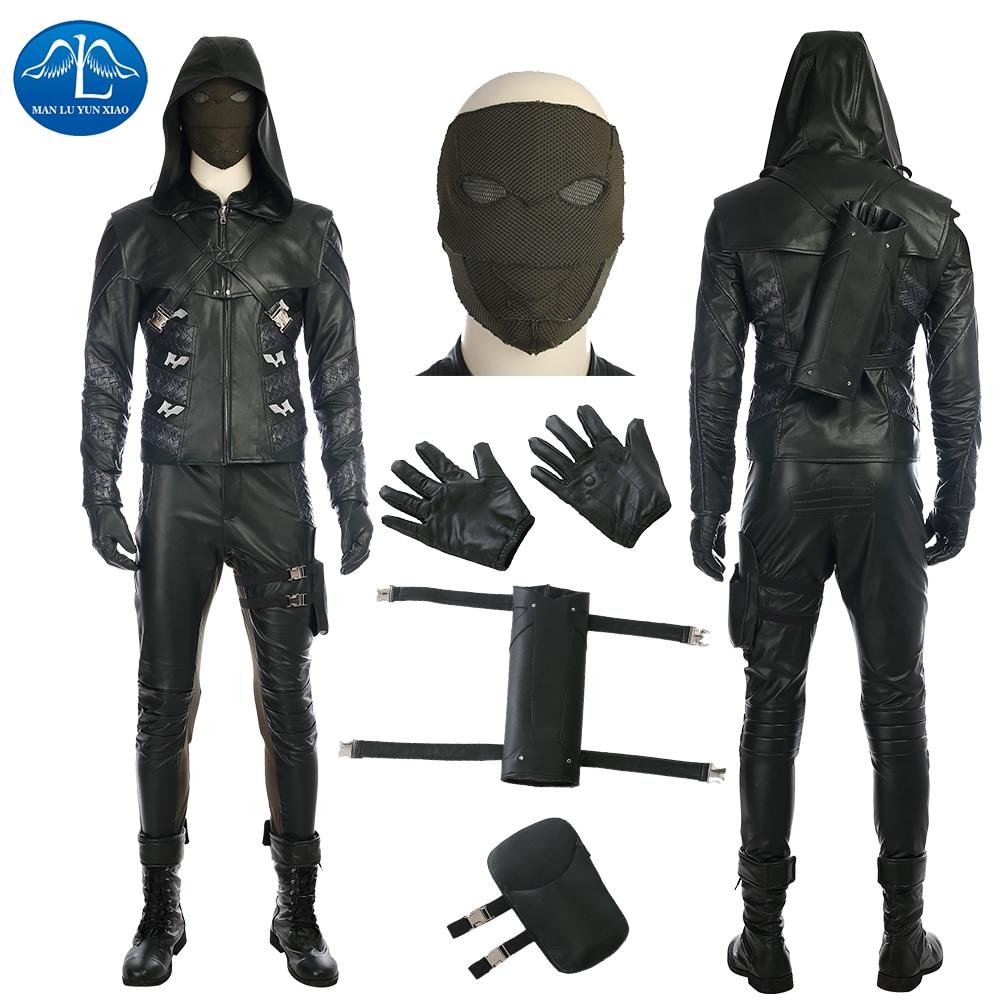 ManLuYunXiao Green Arrow kostým Quentin Lance kostým Halloween Cosplay kostým pro dospělé muži Full Set Muži Základní Custom Made