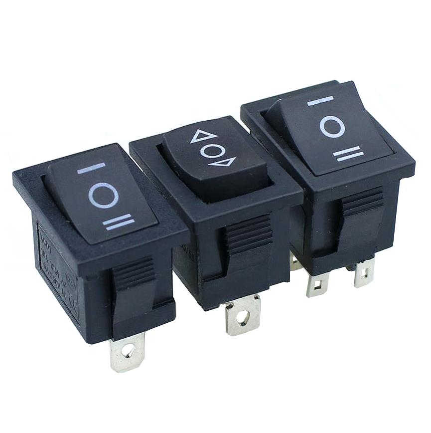 1 PCS KCD1 Mini Đen 3 Pin/6 pin On/Off/On Rocker Chuyển Sang AC 6A/ 250V10A/125 V
