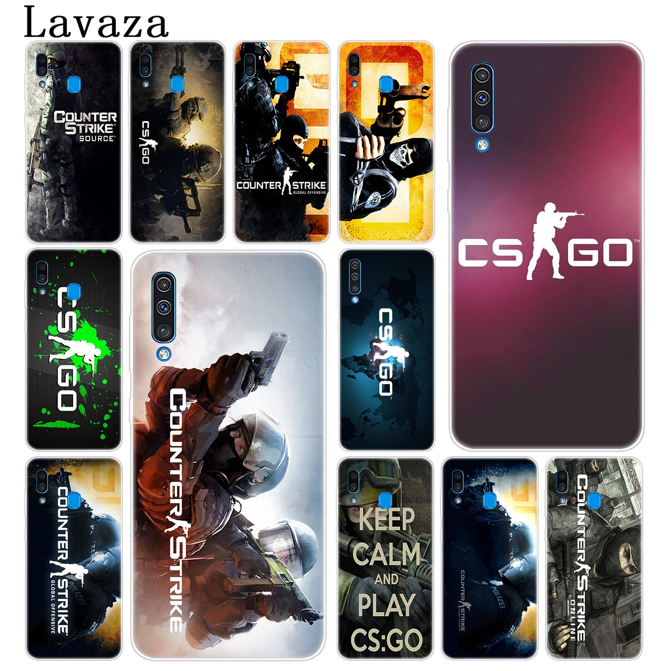 Half-wrapped Case Cellphones & Telecommunications Lavaza Cs Go Counter Strike Gun Strike Hard Transparent Phone Case For Samsung Galaxy A70 A50 A40 A30 A10 M10 M20 M30 Cove In Short Supply