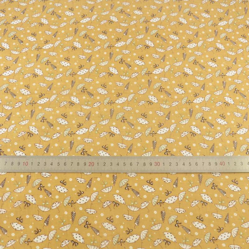 Nowości biały parasol 100% żółty bawełna dla początkujących kto Tilda lalki Patchwork dzieła sztuki Telas Tecido tkanki rzemiosła