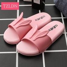 4ca96df4a1538 Tznium chaussures d'été nouvelles femmes salle de bains sandales femelle  oreilles de lapin mignon