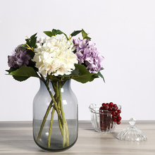 Xuanxiaotong 45cm 1pc Long Stem Silk Hydrangea Artificial Flowers Branches Purple White Pink Green Blue Decor