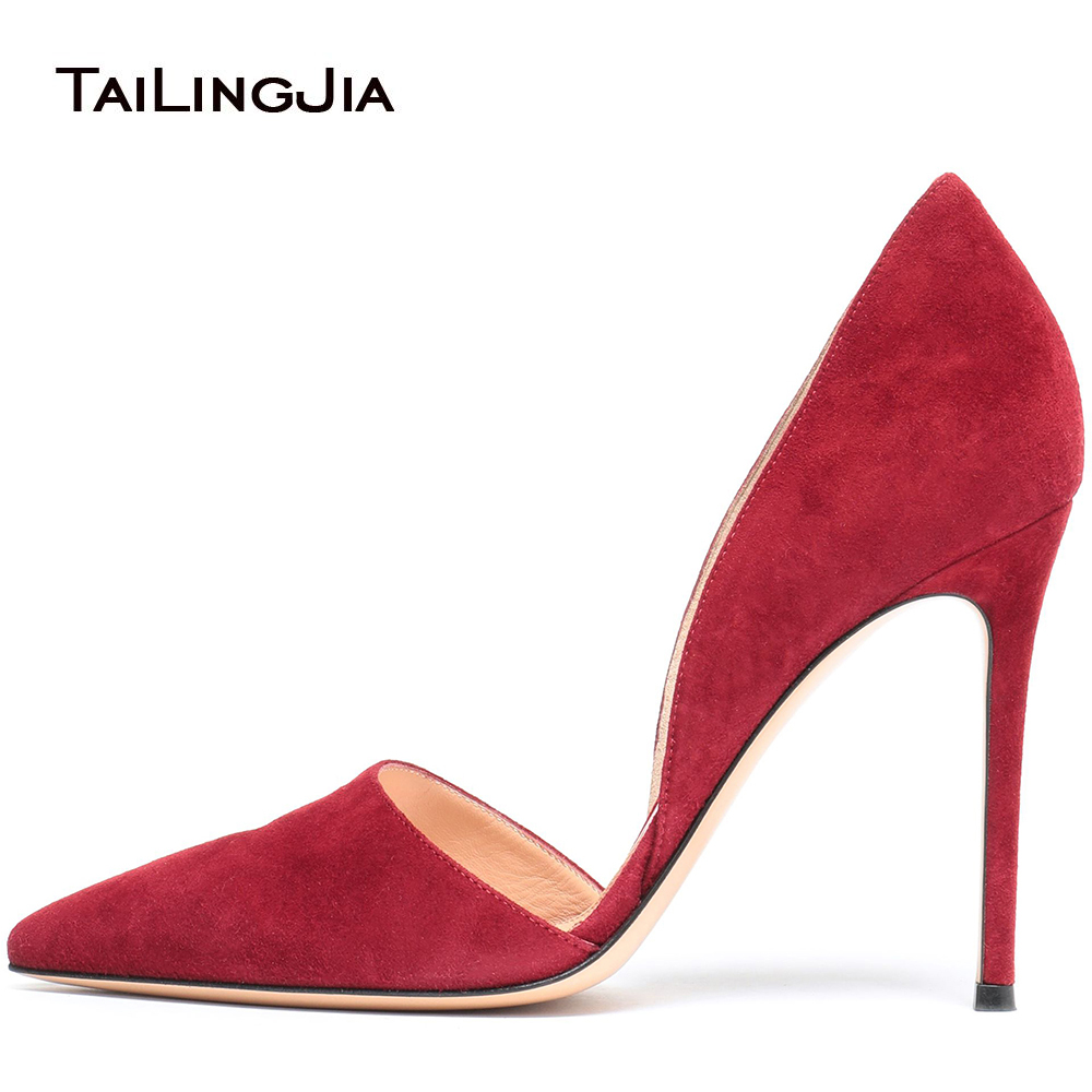 2018 Plus Size Pointed Toe Extreme Sexy Party Red Beige Heel Stiletto Womens Pumps 12cm Ladies High Heels Women Shoes Woman