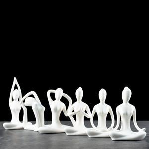 Figura de Yoga péndulo moderno simple decoración de sala de estar accesorios de decoración del hogar decoración moderna del hogar