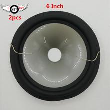 2 pcs/lot  6 Inch Speaker Cone Rubber Edge Gray Plastic Cones Basin Accessories Full Frequency Thickening 27 Core High 32 mm цена 2017