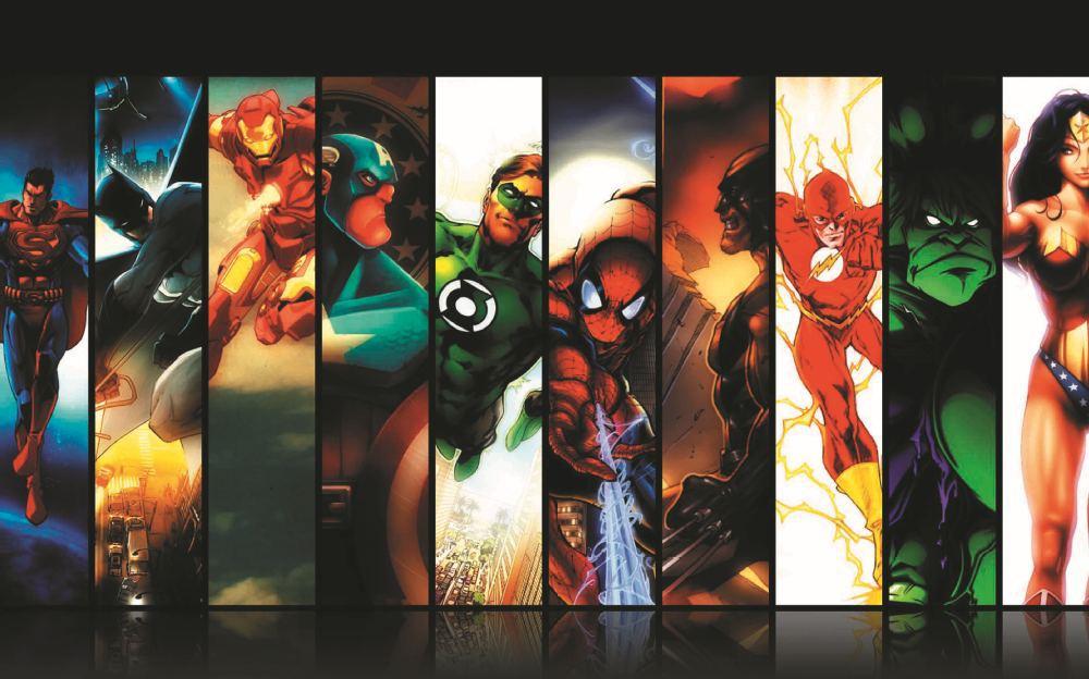 Christmas gift the flash home decoration iron man marvel wallpaper hulk custom dc comics poster - Super heros fille marvel ...