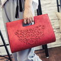 Hot ! 2016 New Women Vintage Handbags Fashion Hollow Out Shoulder Bags Quality Pu Leather Messenger Bags Elegant Lady Clutch
