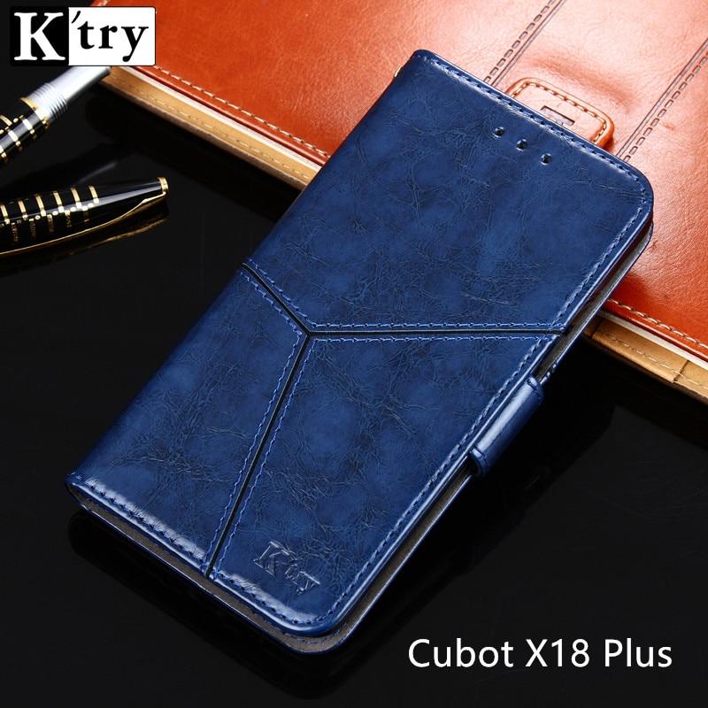 Cubot X18 Plus fall-abdeckung K'try luxus flip ledertasche zurück decken Vintage-stil capa Coque Cubot X18 Plus