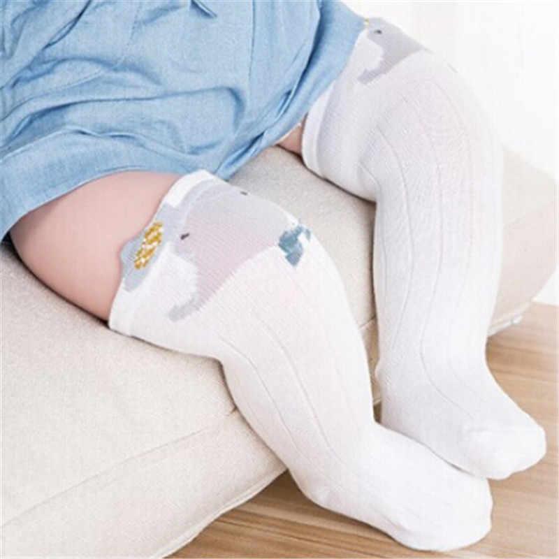 Los niños de la princesa chica medias bebé lindo medias niños medias hasta la rodilla de blanco gato de dibujos animados
