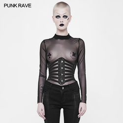 Punk Rave Rock Pu Leather Cosplay Vetersluiting Steampunk Gothic Sexy Tailleband Gordel Gothic Visual Kei WS263