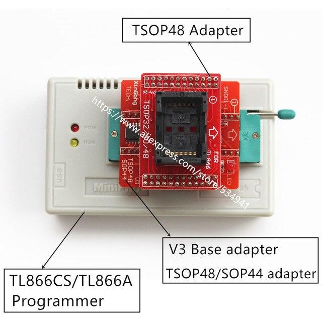 TSOP32 TSOP40 TSOP48 + TSOP48/SOP44 V3 Board for TL866CS / TL866A/ TL866II Plus universal programmer usb only