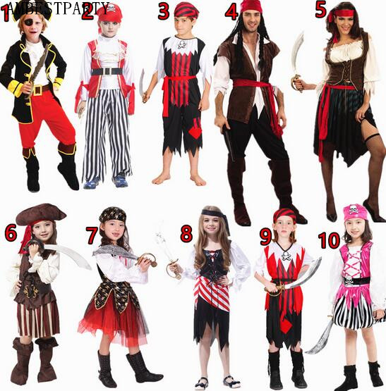 hot nuevo llega trajes de pirata de halloween navidad nias nios cosplay fiesta de disfraces