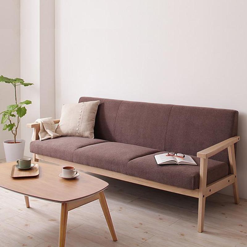 Living Room Sofa Cafe Restaurant Wood Sofa Armchair Fabric