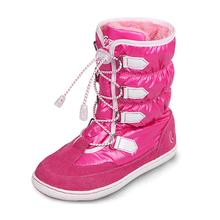 Uovo Brand New Girls Winter Boots Ski Cloth And Suede Leather Warm Kids Shoes Children Slip-Resistant Boots Chaussure EU26-39