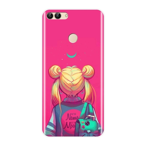 Sailor Moon Phone Case For Huawei P8 P9 Lite Mini 2017 Silicone Soft Back Cover For Huawei P20 Lite Pro P9 P10 Plus P Smart Case Karachi