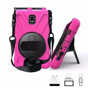 Чехол для Samsung Galaxy Tab Active 2 8,0 T390 T395 SM-T395 8,0 дюймов планшет сверхмощный силиконовый Жесткий чехол шейный ремешок