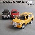 1:32 сплава модели автомобилей, высокая моделирования Toyota ВНЕДОРОЖНИК, металл diecasts, игрушечных автомобилей, вытяните назад и мигать и музыкальные, бесплатная доставка