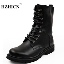 Men's Snow Boots Casual Work Boots Winter New Style Plus Size Ankle Martin Boots High Quality Fashion Lace Up Shoes Luxury Brand