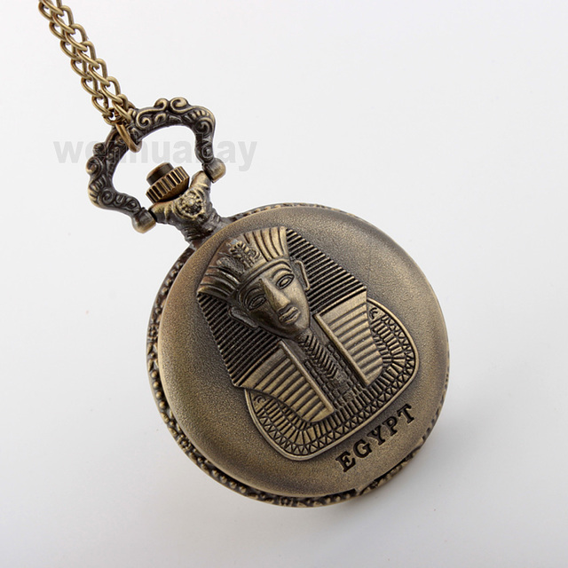 Dropshipping EGYPT Image Mystic Style Rare Design Mens Pocket Watch Special Design Pendant Necklace Chain P292