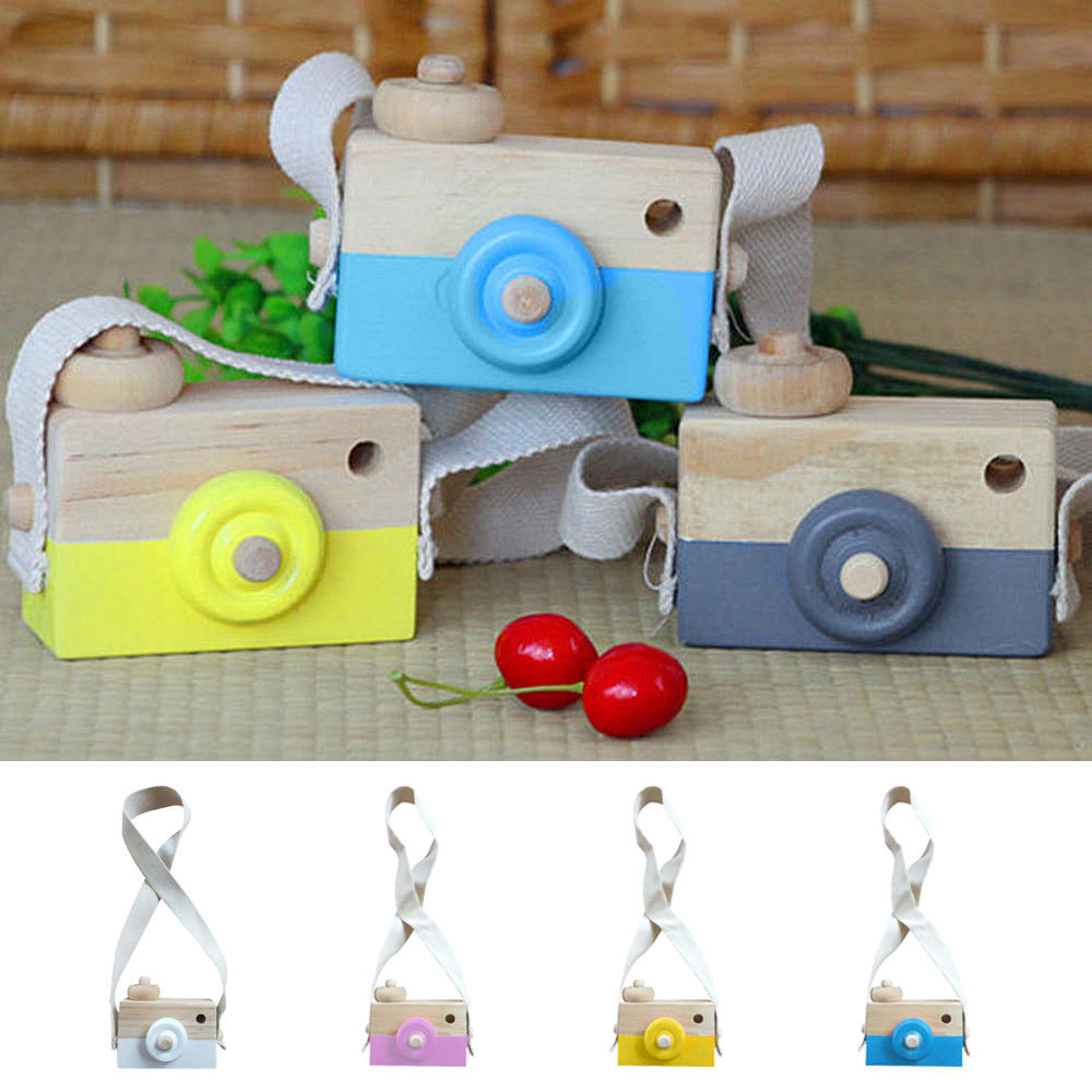 9*3.5*8cm Cute Nordic Hanging Wooden Camera Toys Kids Toy Gift Room Decor Furnishing Articles Wooden Toys For Kid