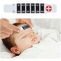 10 pcs lot bebê testa termômetro afixada escala de temperatura bebê infantil reutilizável flexível infantil presente de natal do bebê