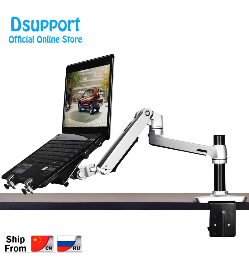 Aluminum Alloy Desktop Mount Dual Use 17-27 inch Monitor Support 17 inch Laptop Holder Mechanical Spring Arm Notebook