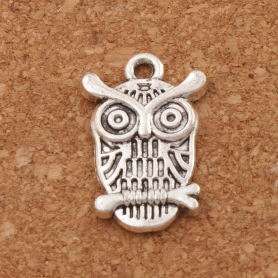 Owl Lucky Bird Charm Beads 14x22.5mm 29pcs Antique Silver Pendants Fashion Jewelry DIY L996
