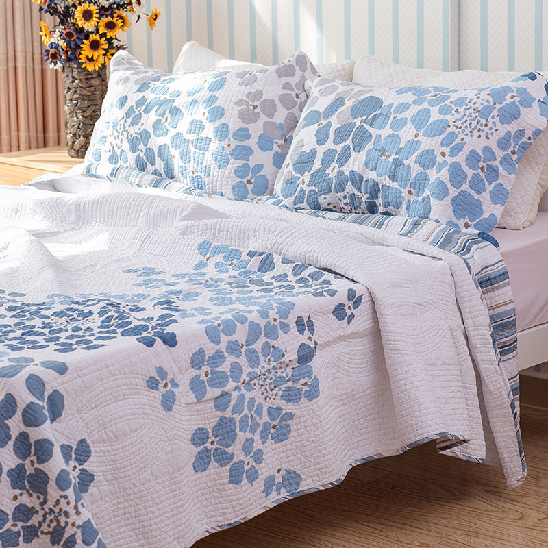 CHAUSUB Quality Quilt Set 3PCS Washed Cotton Coverlet Printed Quilted Bedspread Bed Cover Bed Sheets Shams Blanket King SizeCHAUSUB Quality Quilt Set 3PCS Washed Cotton Coverlet Printed Quilted Bedspread Bed Cover Bed Sheets Shams Blanket King Size