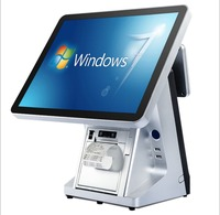 15 inch POS System /Dual Screen Touch All in One POS Ultra Thin