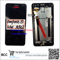 Original! Black LCD screen display+touch digiziter with frame For Asus ZenFone 5 lite A502 free shipping,Test ok