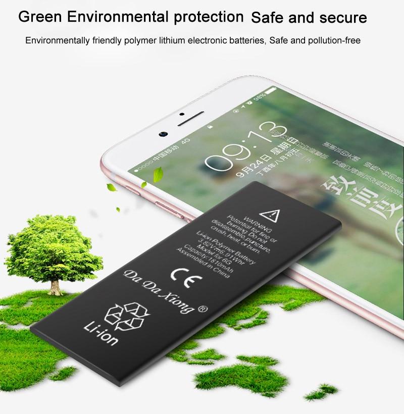 Da Da Xiong Battery For Iphone 6 6G 6S 6GS 5G 5GS 1620mah 2200mah Genuine Li Ion Mobile Phone Accessory Replacement Batteries