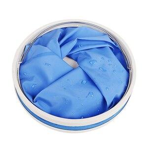 Image 2 - Ensemble de nettoyage et de séchage pour voiture, serviette de détail en microfibre, seau pliable Portable, gant Chenille imperméable, accessoire de lavage, 3 pièces