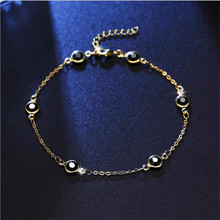 LUKENI Charm Gold Female Anklets For Women Jewelry Top Quality Black Crystal Balls Bracelets Girl Lady Lover Birthday Gift