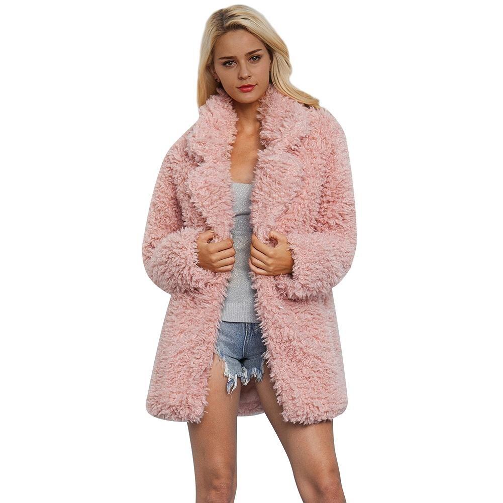 Mujer Manteau Chaquetas Casual Femme Pink En Pardessus Mode Faux Chaud Moelleux Femmes Long Rose Fausse Épaissir Cardigans Fourrure Hiver qSwzHpEH