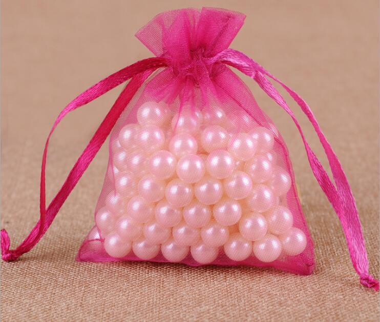 300 шт/партия 24 цвета большая сумочка для украшений из органзы 20x30 см сумка на шнурке Свадебные/вечерние украшения Подарочный мешочек для украшений упаковочная сумка - Цвет: rose Red