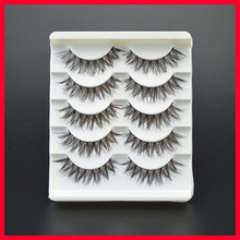 False Eyelashes Messy Cross Thick Natural Fake Eye Lashes Professional Makeup Tips Bigeye Long False Eye Lashes