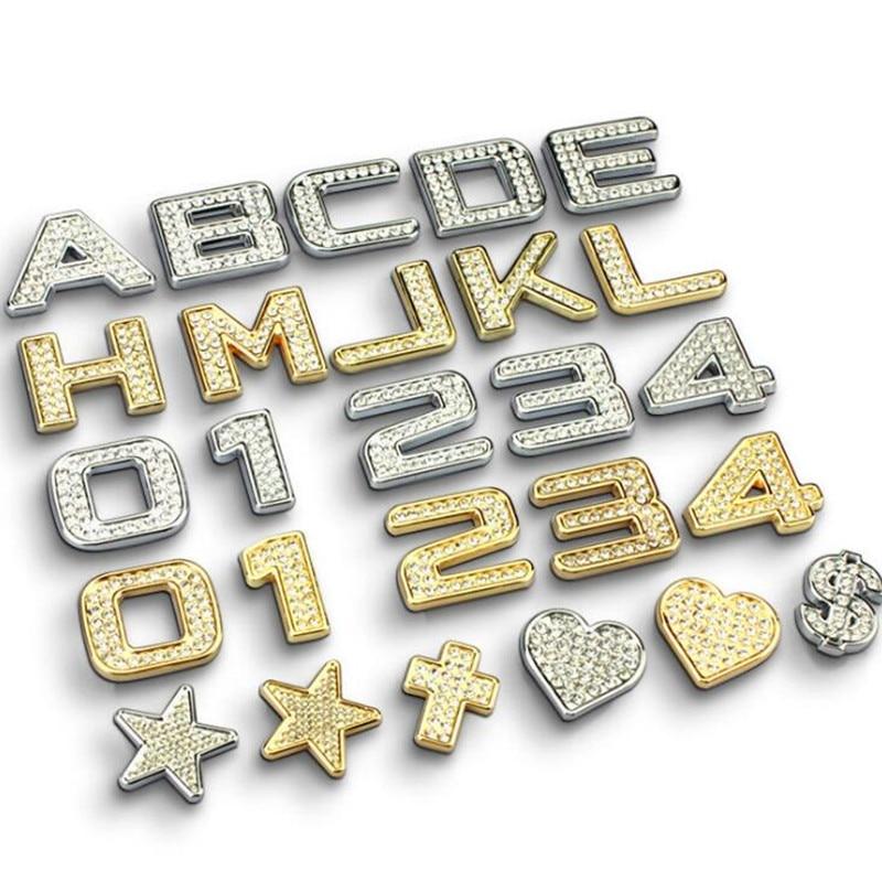Stickers Autocollants Alphabet 3D Alphabet Nacré Scrapbooking - HT 1.4 cm
