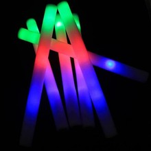 Colorful Multi Color Sponge Glow Stick Foam Concert Large  Flash 12pcs LED Rally Flashing Light DJ Wand