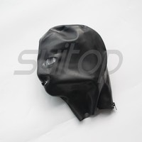 Top selling 100% natural latex hoods masks with trim outside