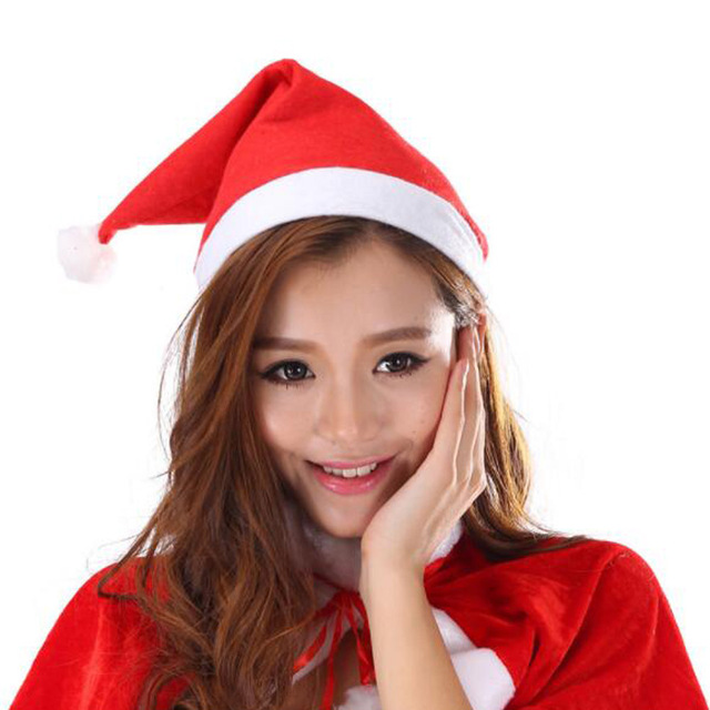1pc Lovely Adults Kids Christmas Cap Thick Ultra Soft Plush Santa Claus  Holiday Fancy Dress Hats Fashionable Design Cap Dropship c6feefe86ab
