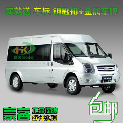 ФОТО Ford Transit new generation 1:18 High quality alloy car model business car Van bus boy diecast collection