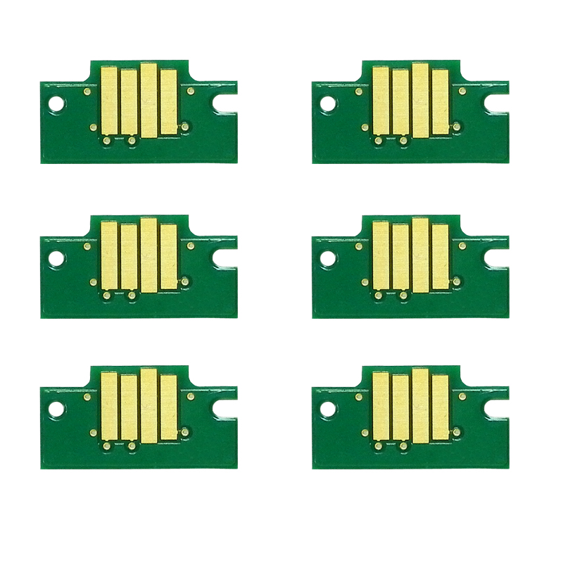 6 pcs New refillable cartridge chips for Canon iPF680 iPF685 iPF770 iPF780 iPF785 printer with high