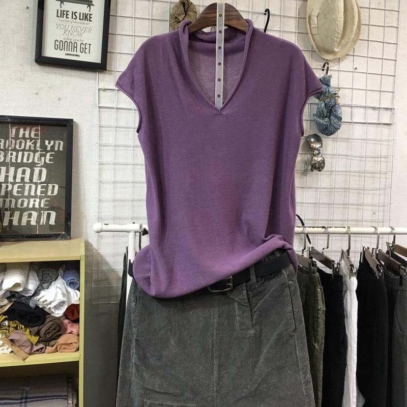 women t-shirts 2019 knitted