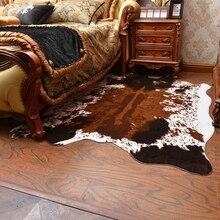 Мягкий искусственный мех ковер черный белый корова коврики с принтом и ковры для гостиной спальни теплый Диван Декоративные Коврики