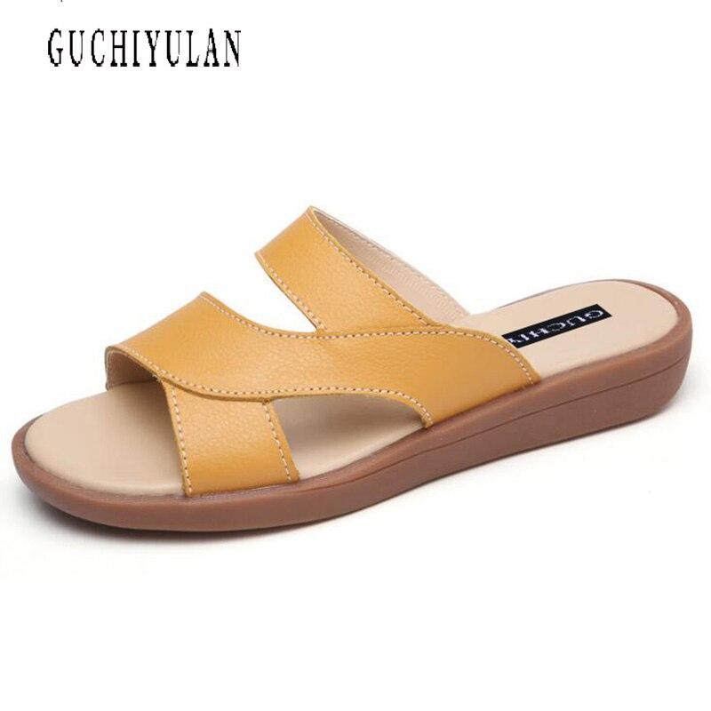 Новые женские босоножки из натуральной кожи Большие размеры 10; Модные Классические летние сандалии Для женщин вечерние туфли черные красны...